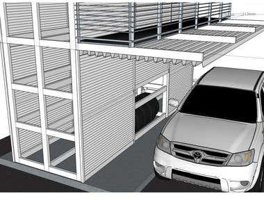 External car tyres storage concept