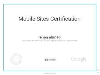 Certified Google Mobile Site Developer