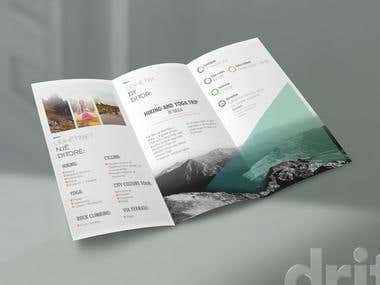 "Brochure design for ""Butterfly Outdoor Adventure"""