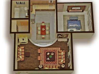3D Plan for a small suite