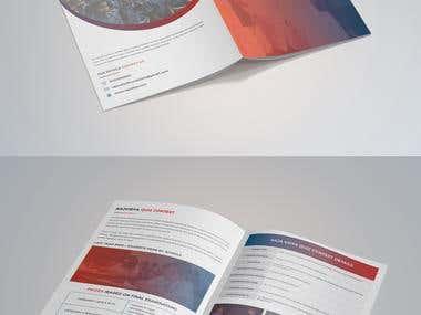 4 Page Brochure Design for a Quiz Contest