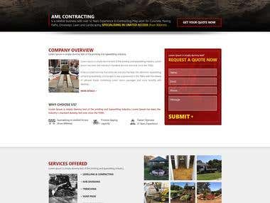 Home Page Responsive Design
