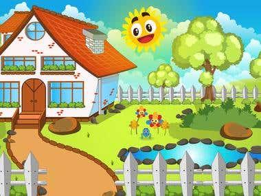 Illustrations for children's animations.