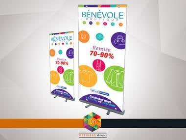 Roll-Up Vinyl Banner Design | Benevole