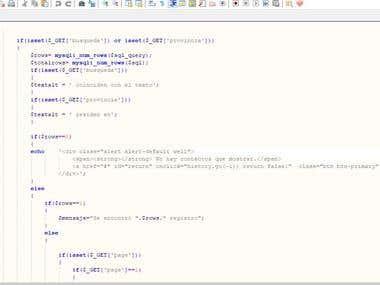 Web development with PHP, MySQL, and Javascript