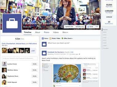Facebook page marketing & Management