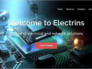 Electrins- Landing page