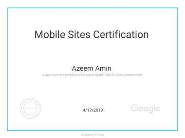 Google Certified Mobile/Web Developer