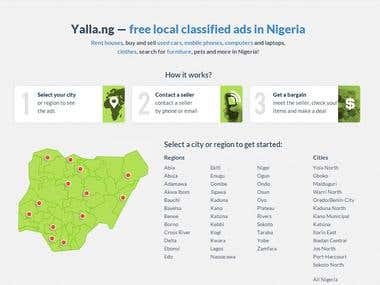 http://yalla.ng/ — free local classified ads in Nigeria