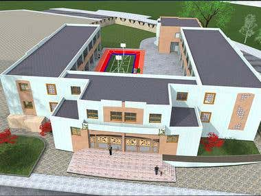3D modelling of a School