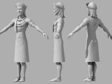 3D Character Model ,Texturing & Rigging