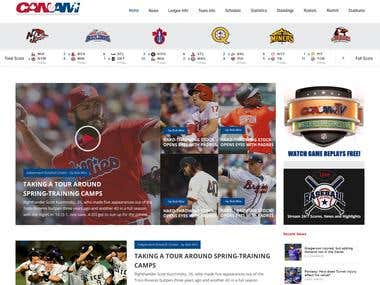 Sports New Website Design and development.