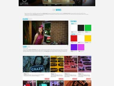 Web Design for uPose Photo booth