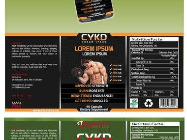 Supplement Bottle label