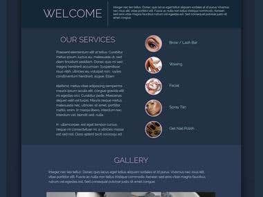 Web Design for Clique Beauty Salon