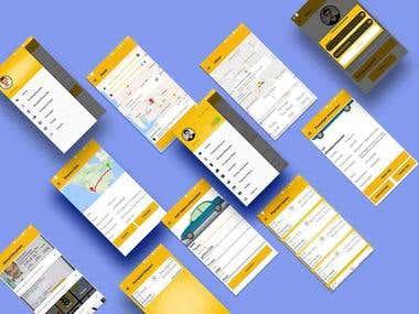 Taxi booking app & web dashboard