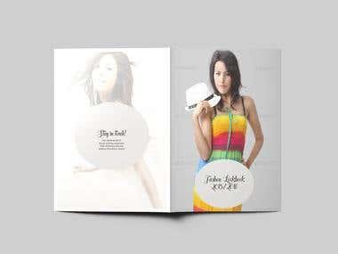 Bi-Fold Fashion Lookbook Design