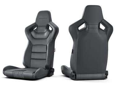 BRAUM Racing Seat Product Viz.