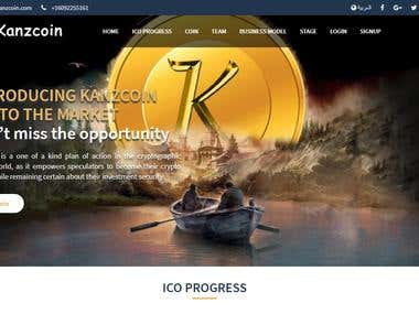 Kanzcoin Exchange Website