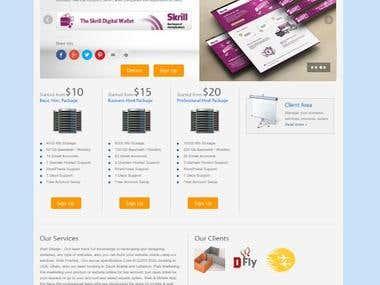 Web Hosting & Design Website Refresh Colors