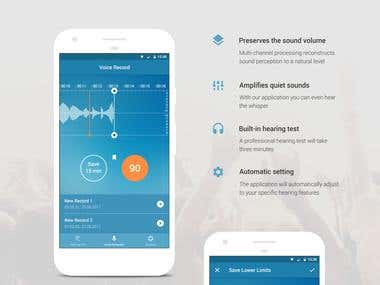 Dectone mobile app design