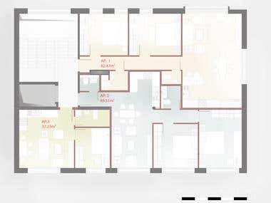 Update of floor-plan - Plan remodeling