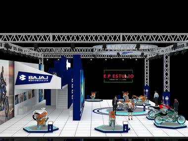 3D Exhibition Stall for Motor Bike