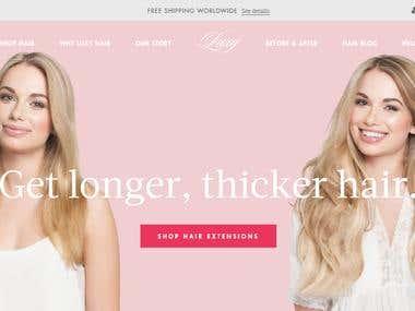 Shopify Store - https://www.luxyhair.com/