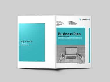 Bi-Fold Business Plan Design Template