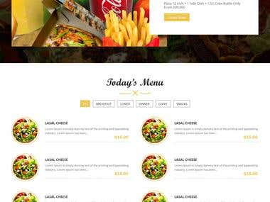 Design for food website