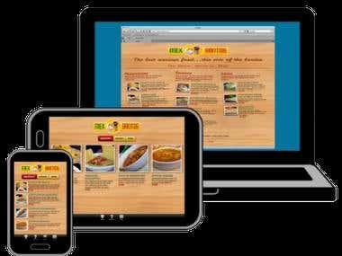 Website for online Menu