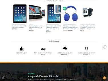 Metro 3 woocommerce website