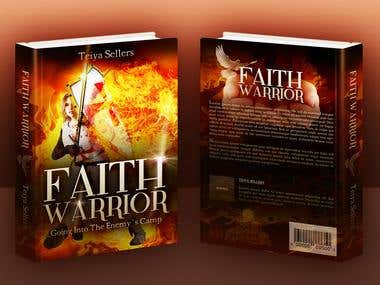 Book Cover Mockup- Collateral Marketing - FAITH WARRIOR