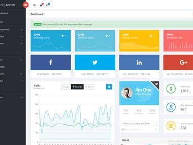 Admin Dashboard using jQuery