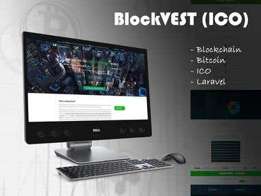 Blockchain Website for ICO (https://blockvestico.io/)