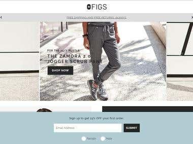 Shopify Store - https://www.wearfigs.com/