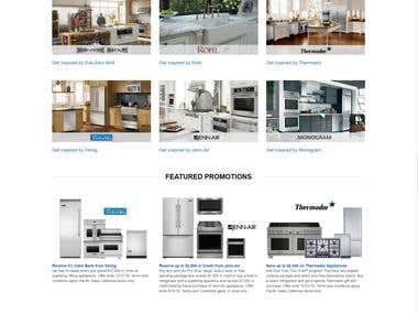 Pacificsalers kitchenware selling website