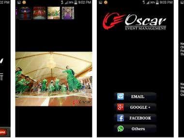 Oscar event management app