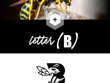 "Logo letter ""B"" negative space"