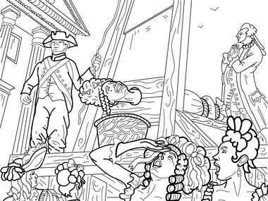 Freelance Book Illustration Adult Coloring Book