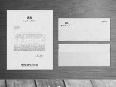 Corporate Identity For Clear On Black