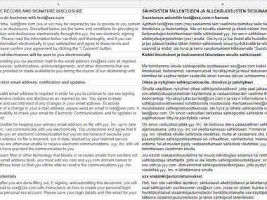 Legal Translation of a Disclosure