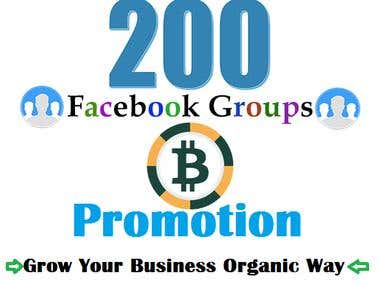 Cryptocurrency Promotion on Facebook Groups
