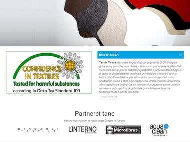 Website Textile Tirana