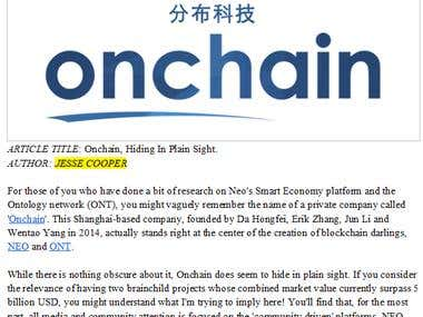 Blockchain, Ontology and Onchain