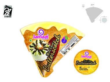 Jamaai Butterscotch mini cone wrapper Design