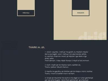 """Branding design idea for """"THARK"""""""