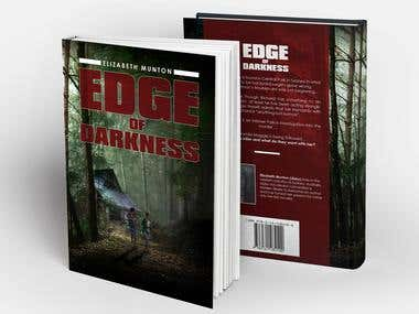 Edge of Darkness - book cover, typesetting and ebook