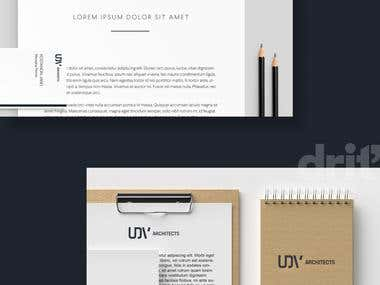"Branding design for "" UDV Architecture"""