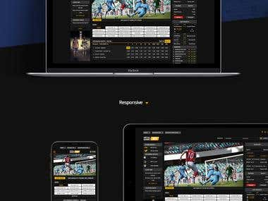 Betting UX/UI Design Website